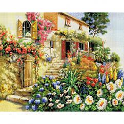 Алмазная вышивка мозаика Белоснежка Итальянский дворик 40 х 50 RN 174, КОД: 395375