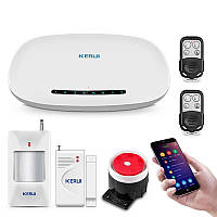 Комплект сигнализации GSM KERUI W19, КОД: 358345
