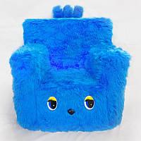 Детский стульчик кресло Kronos Toys длинный ворс Синий zol217-6, КОД: 146357