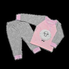 Пижама для девочки Dexters Барашек 30 Серо-розовый d9023, КОД: 1058901