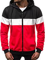Кофта мужская с капюшоном JSTL XXL Красный LS9003R, КОД: 1079150