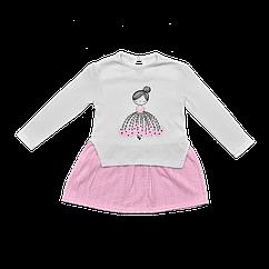 Платье Dexters Девочка 122 см Бело-розовый d9781, КОД: 1058338