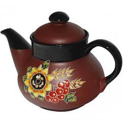 Чайник заварочный ST Добра глина Калина 1000 мл Коричневый ST-531001psg, КОД: 295925