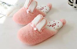 Тапочки розовые с ушками Kronos Top стелька 24.5 см размер 37-38 stet1262,2, КОД: 943729