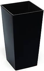 Кашпо Lamela Финезия 57 х 30 см Черный 000002589, КОД: 358585