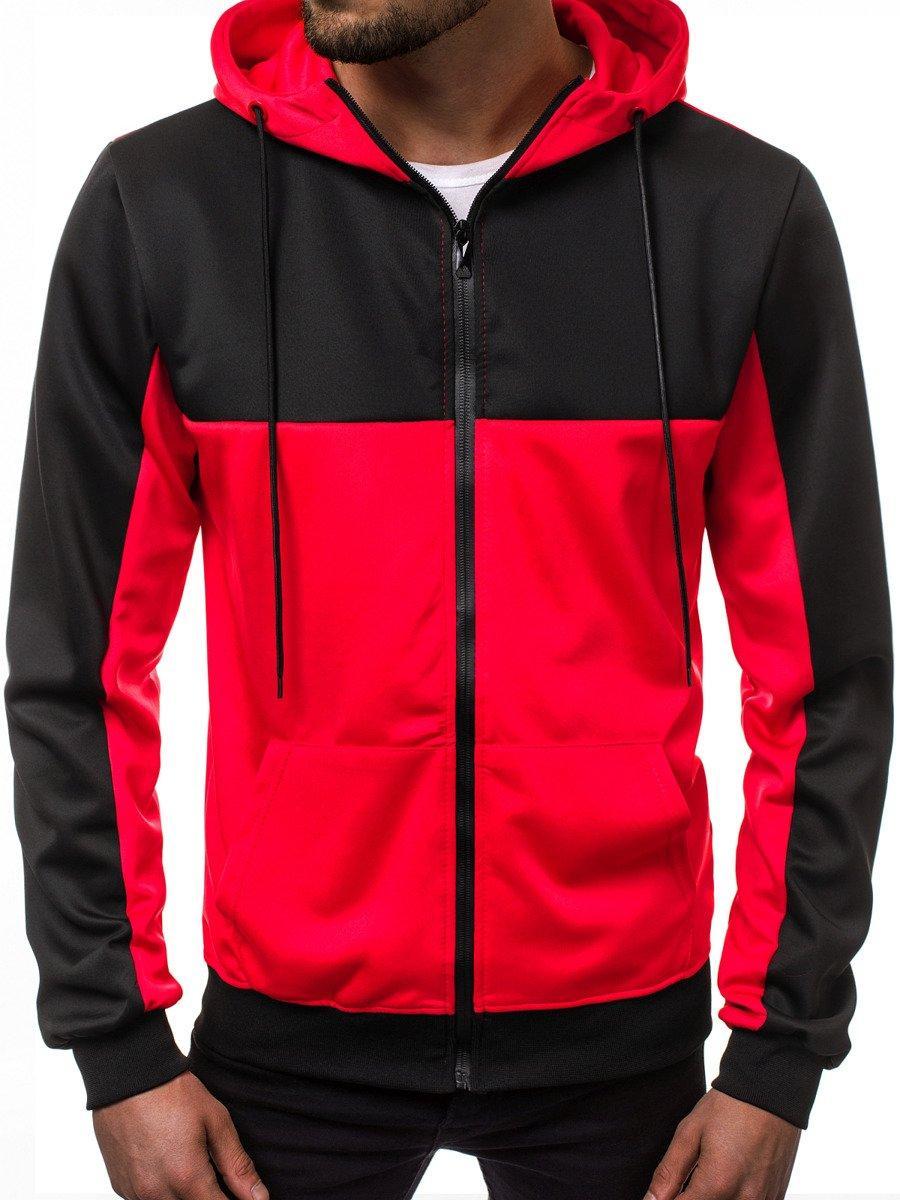 Кофта мужская с капюшоном JSTL XXL Красный LS9001R, КОД: 1079040