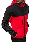 Кофта мужская с капюшоном JSTL XXL Красный LS9001R, КОД: 1079040, фото 2
