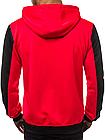 Кофта мужская с капюшоном JSTL XXL Красный LS9001R, КОД: 1079040, фото 3