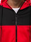 Кофта мужская с капюшоном JSTL XXL Красный LS9001R, КОД: 1079040, фото 4
