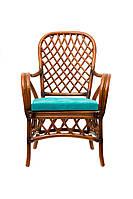 Кресло Cruzo Феофания из натурального ротанга Ореховое kf13-597, КОД: 741900