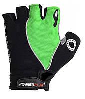 Велоперчатки PowerPlay S Черно-зеленые 5019ASGreen, КОД: 977450