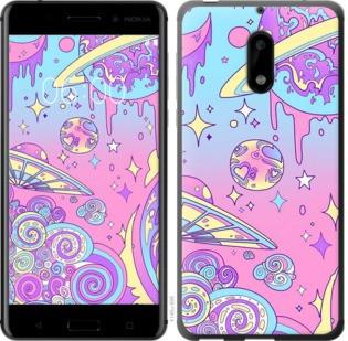 """Чехол на Nokia 6 Розовая галактика """"4146c-898-19380"""""""