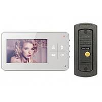 Комплект видеодомофона Qualvision и Вызывная панель антивандальная из цинкового сплава Qualvision, КОД: 1082374