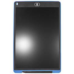 Графический планшет Lesko LCD Writing Tablet 12 для рисования с стилусом и кнопкой сохранения Blu, КОД: 1073665