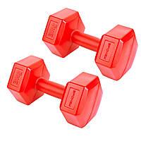 Гантели композитные Spokey MONSTER II 2х3 кг Красный s0351, КОД: 200889