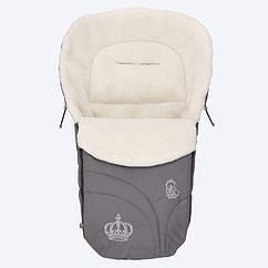 Конверт на овчине Baby Breeze 0356 Серый Baby Breeze 0356 графит, КОД: 145054