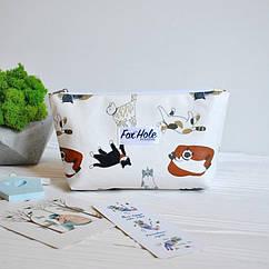 Косметичка Мини FOX HOLE Laminated Котики Белый 3-FoxHole-14, КОД: 390932