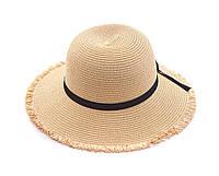 Шляпа со средними полями LuckyLOOK Бежевая BR4318, КОД: 1095094