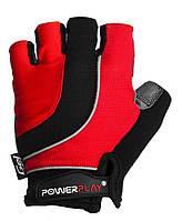 Велоперчатки PowerPlay M Черно-красные 5037BMRed, КОД: 977448