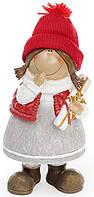 Фигурка декоративная Bona Девочка в красной шапке 22 см Разноцветный psgBD-823-100, КОД: 944824