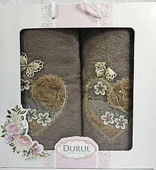 Набор 2 полотенца Durul M2 3D с вышивкой 50х90 и 70х140 см хлопок Зеленые psgSA-4340, КОД: 945007