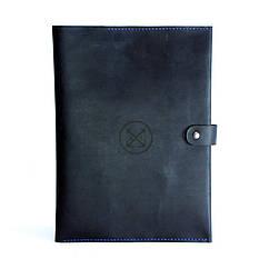 Кожаная папка-портфель для документов А4 Темно-синий as150102, КОД: 186937