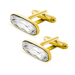 Запонки KOBI OVAL со Swarovski Crystal 7720-1001-02-35, КОД: 395215