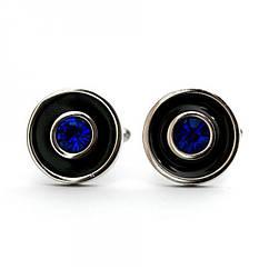 Запонки круглые с камушком Zph-1134, КОД: 395265
