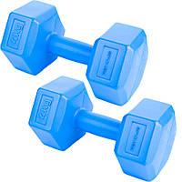 Гантели композитные Spokey MONSTER II 2х4 кг Голубые s0271, КОД: 200859