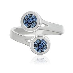 Безразмерное кольцо KOBI Tora с камнями Swarovski Denim blue 7770-2307-58-32, КОД: 706857