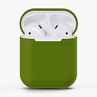 Чехол для AirPods silicone case Green, КОД: 370935
