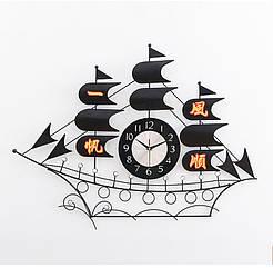 Годинник настінний R-Clock Каравелла 86х68 см Чорний RC1330, КОД: 116705