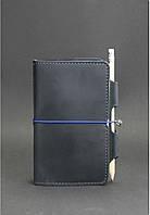 Кожаный блокнот BlankNote 3.0 Ночное небо Темно-синий BN-SB-3-mi-nn, КОД: 723804