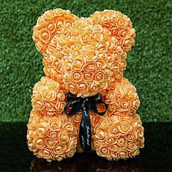 Мягкая игрушка Bear Мишка из роз Оранжевый 40 см 354235, КОД: 984745