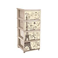 Комод с декором 4-х секционный Париж Кремовый 18-123093-2, КОД: 721565