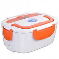 Электрический ланч-бокс с подогревом Electronic Lunchbox Оранжевый nri-2238, КОД: 378484