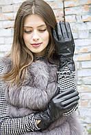Женские кожаные перчатки 6.5 р Черные 364.6.5, КОД: 189283