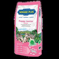 Сухой безглютеновый корм для щенков и молодых собак Winner Plus Holistic Puppy Junior 10112 12 кг, КОД: 969798