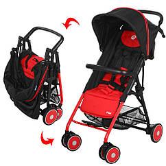 Прогулочная коляска El Camino M003294 Красный с черным 23-SAN182, КОД: 317052