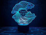 Светильник 3D 3DTOYSLAMP Ракушка 2, КОД: 385475