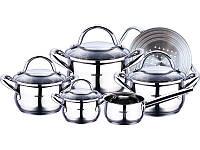 Набор кухонной посуды Bergner Gourmet 10 предметов с мультиразмерной пароваркой BG-6529psg, КОД: 170237