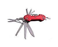 Нож складной многофункциональный EDC НК-511 Красный 1em003202, КОД: 897613