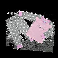 Пижама для девочки Dexters Счастливый кот 34 Серо-розовый d9065, КОД: 1058905