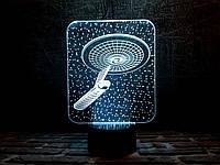 Светильник 3D 3DTOYSLAMP Космический корабль 3, КОД: 385713