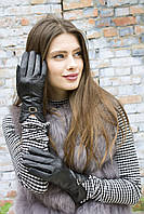 Женские кожаные перчатки 8.5 р Черные 363.8.5, КОД: 189289