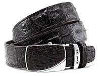 Ремень из кожи крокодила Exotic skin 110-125 см Черный 110-15 Black, КОД: 1073547