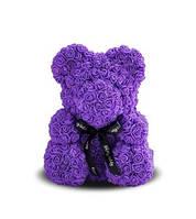 Мягкая игрушка Bear Мишка из роз Фиолетовый 25 см 823568, КОД: 984779
