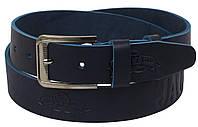 Кожаный ремень Skipper 110-130 x 3.8 см Синий 1125-38, КОД: 390024