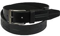 Кожаный ремень Skipper 110-130 x 3.8 см Черный 1107-38, КОД: 390134