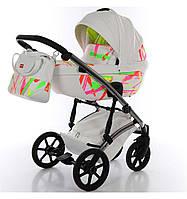 Универсальная коляска 2 в 1 TAKO Neon 01 Белая на серебристой раме 24-T-BD-01, КОД: 1090890